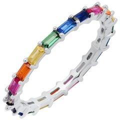 Colourful Zirconia Fine Silver Ring