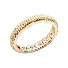 Colours of Love Yellow Gold Fluted Ring