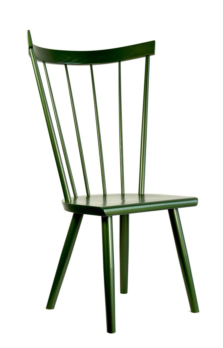 Scandinavian Modern Colt High Back Side Chair, Contemporary Windsor Chair For Sale