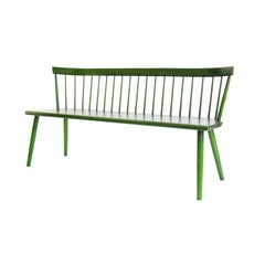 Colt Low-Back Settee, Contemporary Windsor Settee