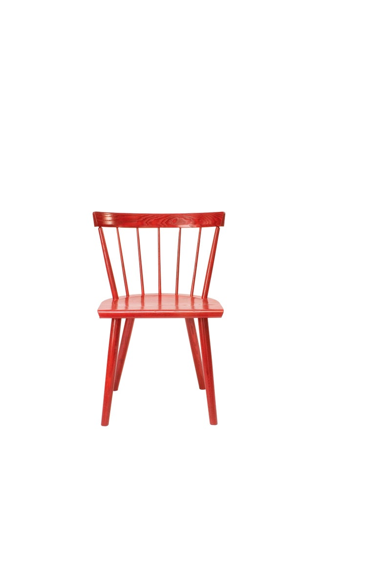 The Colt lowback side chair by O&G Studio is an iconic Modern Windsor chair, perfect in proportions, detail and comfort. The Colt Low Back is handmade in our Warren Rhode Island Studio from solid North American hardwood using time honored joinery