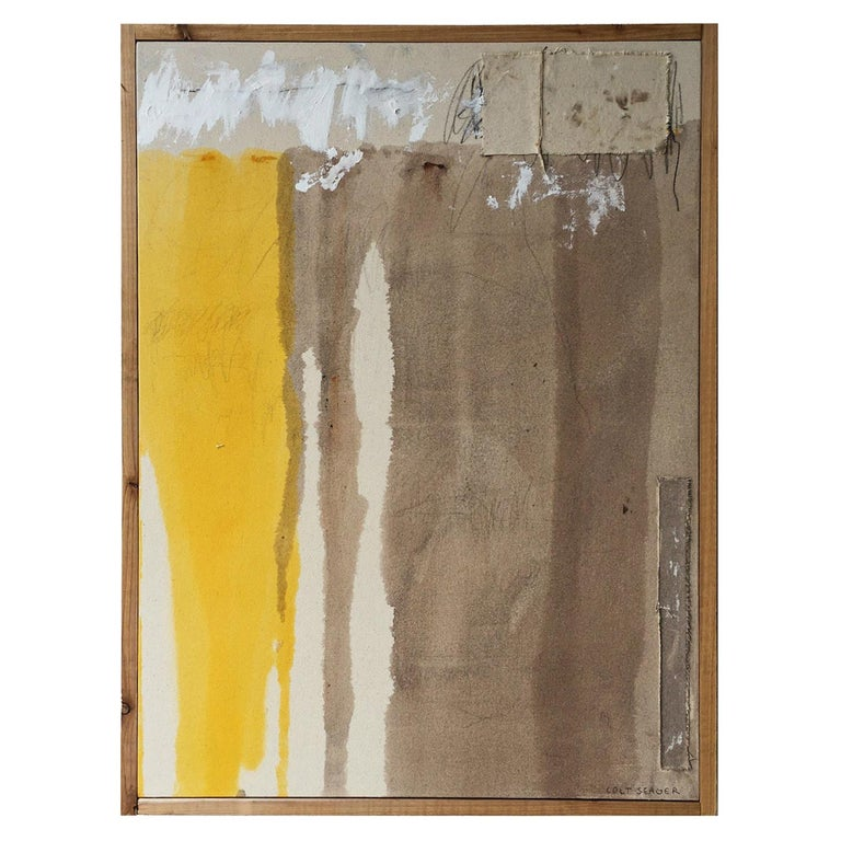 Colt Seager 'Immersion #3' Mixed-Media on Canvas For Sale