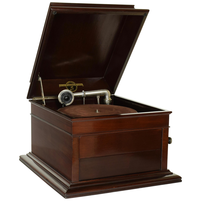 Columbia No.120 Mahogany Table Top Wind-Up Gramophone
