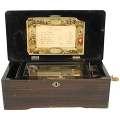 Columbia Six Airs Swiss Cylinder Music Box, circa 1894