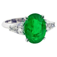 Columbian Emerald and Diamond Ring by Pampillonia