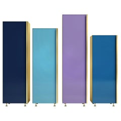 Column 01 Set of 4 Blue Cupboards