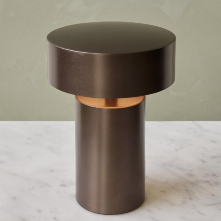 Column, Bronze LED Table Lamp by Norm Architects Cordless Lamp In New Condition For Sale In San Marcos, CA