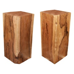 Column or Pedestal Set of Two in Solid Molave Wood
