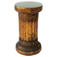 Column Pedestal Stand or Side Table in the Neoclassical Design