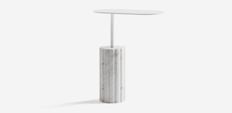 Column side table in Minimalist style, was inspired by the ancient civilizations of the Mediterranean area, where they develop the foundations of the concept of beauty that we have currently in Western culture. Josep Vila Capdevila seeks the essence