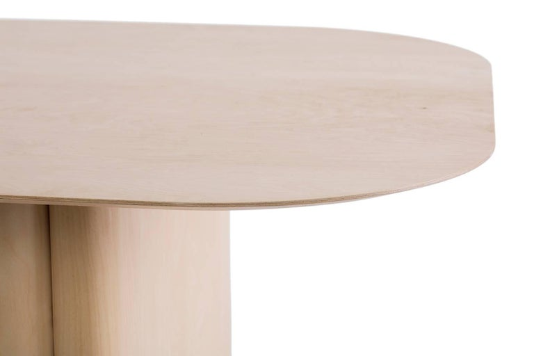 American Column Table, Rectangular by BlackTable Studio in Oiled Ashwood For Sale