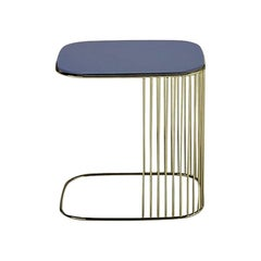 In Stock in Los Angeles, Comb Blue Frame Side Table, Gordon Guillaumier