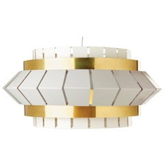 Comb I Suspension Lamp with Brass