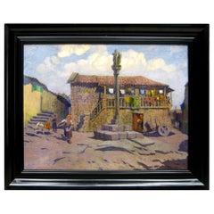 """""""Combarro"""" Pontevedra, Spain, Oil on Canvas, Eduardo Martínez Vázquez, 1934"""