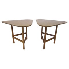 Combed Oak Side Tables by Molly Gregory / Black Mountain College