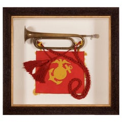 Combination Marine Corps Bugle, Sash and Banner