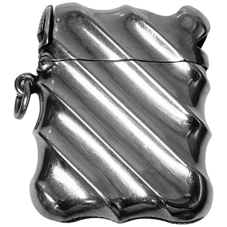 Combination Silver Vesta Case and Cigar Cutter, Birmingham 1888 Horton & Allday For Sale