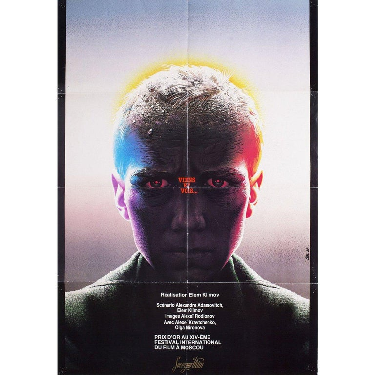 Come and See 1985 Russian B1 Film Poster In Good Condition For Sale In New York, NY