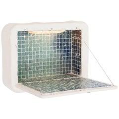 "Côme Clérino Contemporary Ceramic Tiled Wall Desk Model ""Le Solitaire Blue"" 2021"