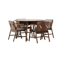 Comedor Redondo DEDO, Mexican Contemporary 4 Seat Dining Set by Emiliano Molina