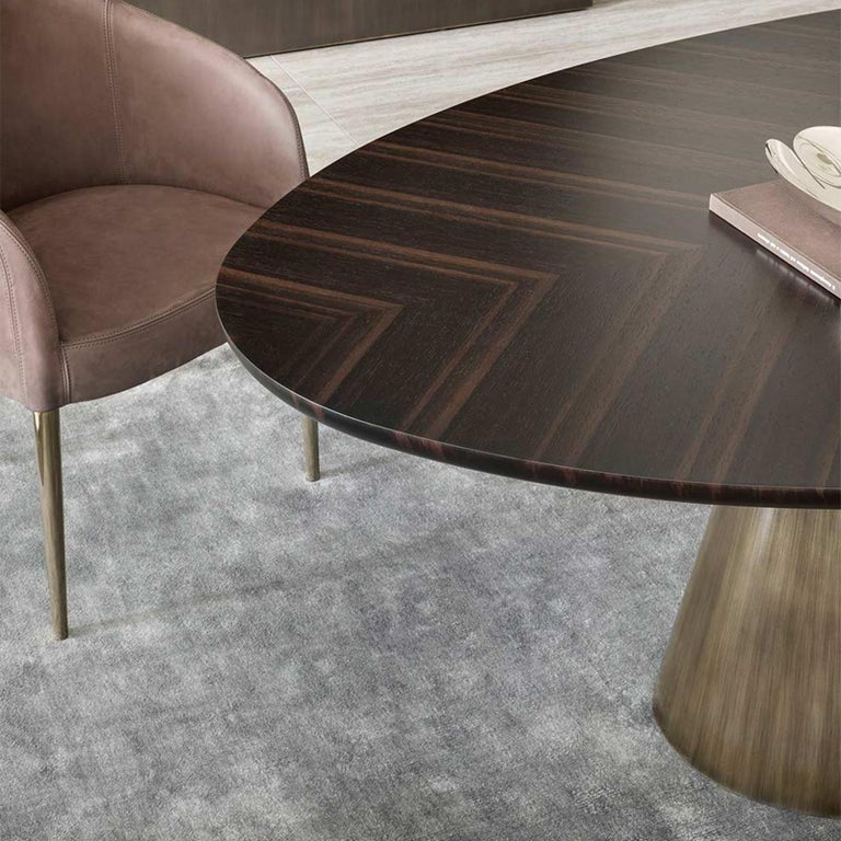 Comet Dining Table with Solid Ebony Top For Sale 2