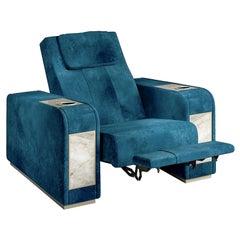 Comfort Blue Home Theater Seat by Pino Vismara