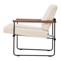 Mid-century modern walnut light weight frame armchair