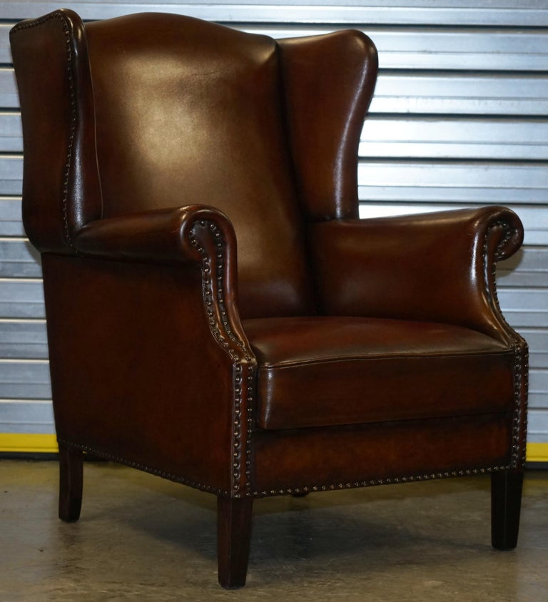 Comfortable Pair of Nice Vintage Restored Wingback ...