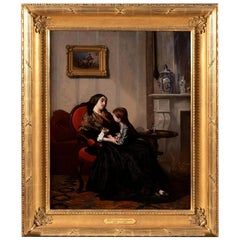 Comforting Mother 'circa 1875' by Gustave De Jonghe