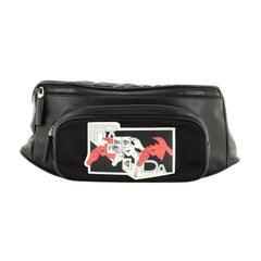 Comic Waist Bag Leather and Tessuto