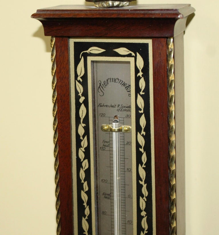Mahogany Comitti of London Limited Edition Prince of Wales Barometer For Sale