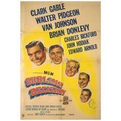 Command Decision 1948 Argentine Film Poster