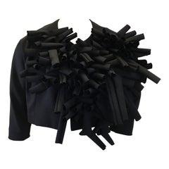 Comme des Garcon Detailed Cropped Jacket