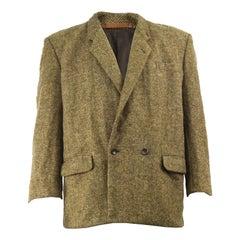 Comme des Garcons 1989 Men's Vintage Structured Shoulder Brown Wool Tweed Jacket