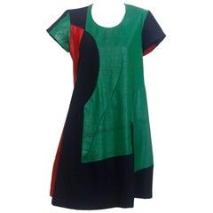 Comme des Garcons 1995 Colour Block Paint Dress