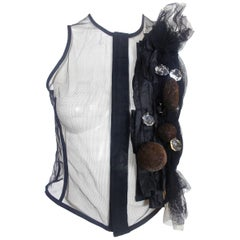 Comme des Garcons 2005 Collection Fitted Top with Crystal Decoration