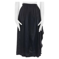 """COMME DES GARCONS AD1989 black rayon draped knee length skirt S 24"""""""