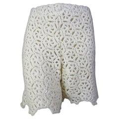 Comme des Garcons AD2011 White Drama Crochet Shorts
