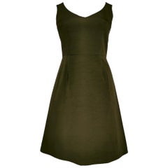 Comme des Garcons Army Green Dress AD 1999