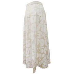 Comme des Garcons Beige White Number Printed Skirt AD 2001