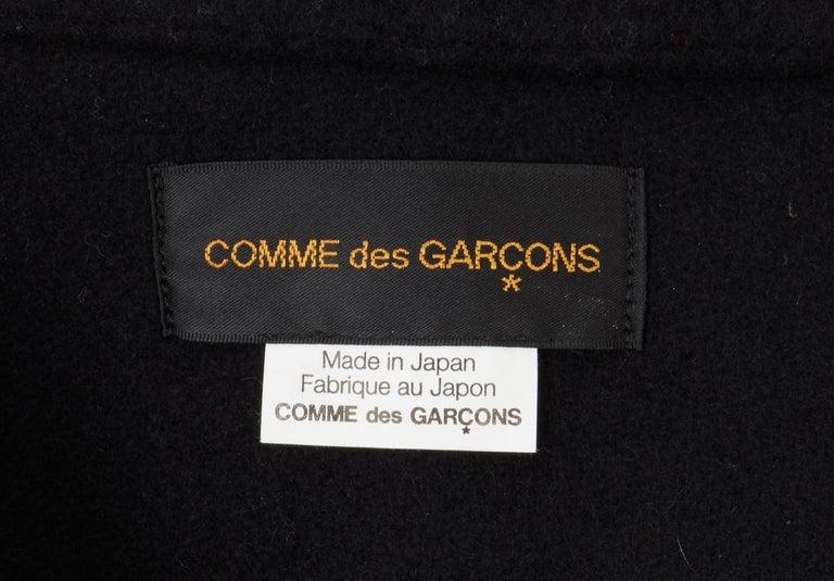 COMME des GARCONS, Black coat, circa 1995 For Sale 1