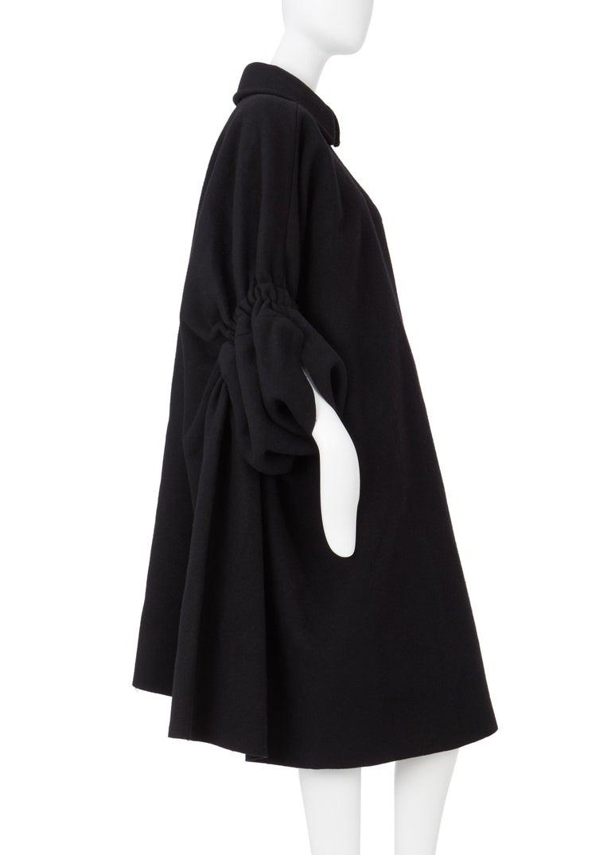 COMME des GARCONS, Black coat, circa 1995 For Sale 3