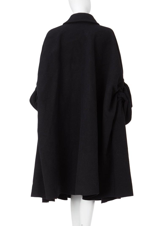 COMME des GARCONS, Black coat, circa 1995 For Sale 4