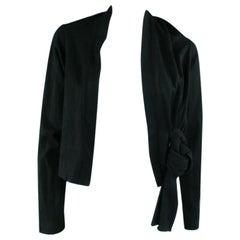 COMME des GARCONS Black Cotton Bolero Cardigan