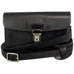 COMME des GARCONS Black Leather Detachable Strap Mini Satchel Belt Bag
