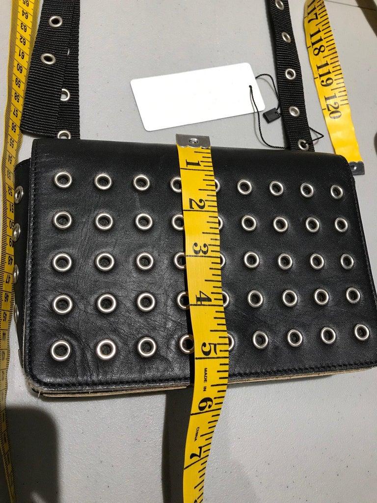 Comme des garçons Black Leather Grommets Purse For Sale 5
