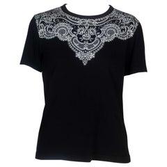 Comme des Garçons Black T-shirt with Lace Motif, 2006