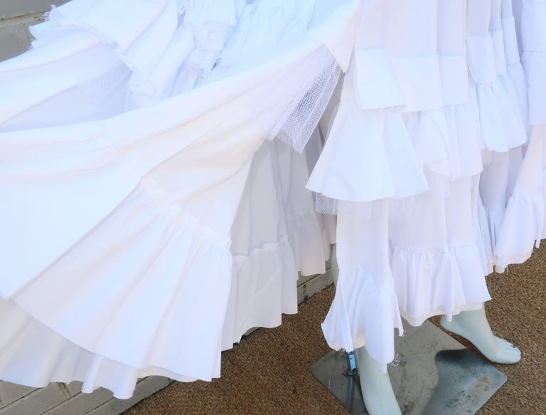 Comme des Garcons Black Velvet Faux Jacket & White Cotton Petticoat Dress For Sale 3