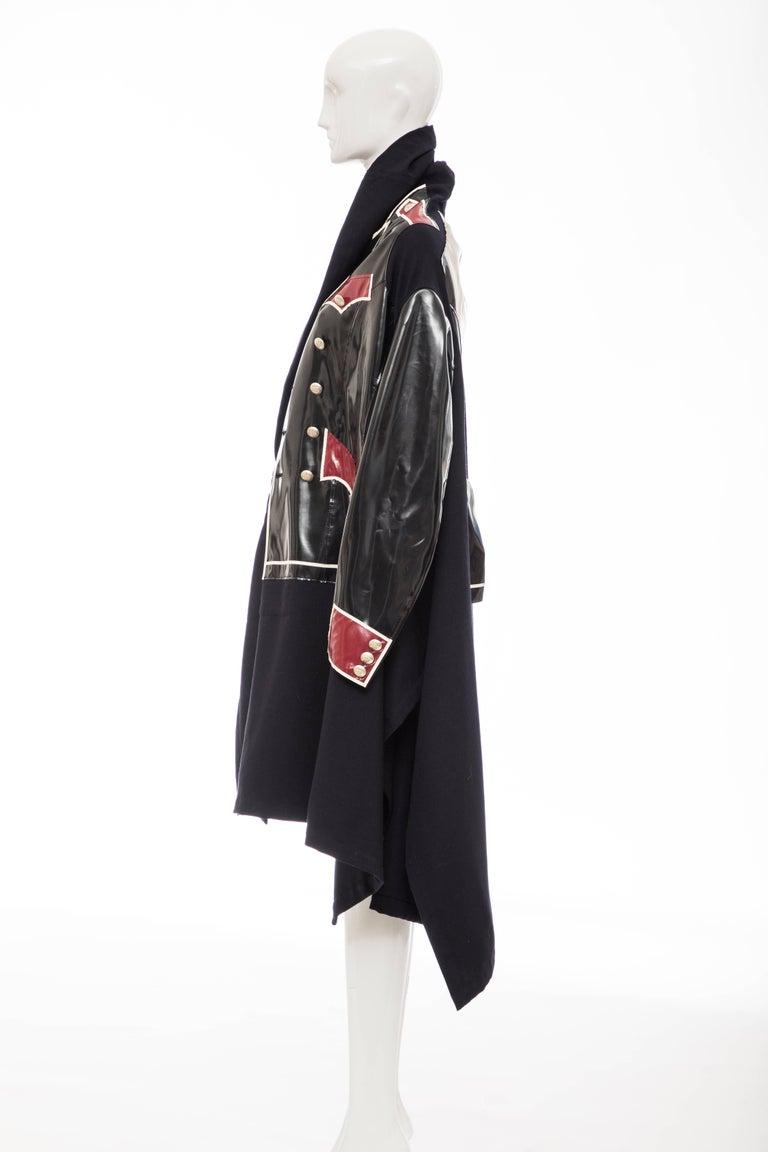 Comme des Garcons Runway Black Nylon Inset Vinyl Panels Coat,  Fall 2009 For Sale 9