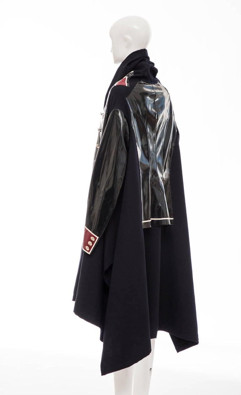 Comme des Garcons Runway Black Nylon Inset Vinyl Panels Coat,  Fall 2009 For Sale 3